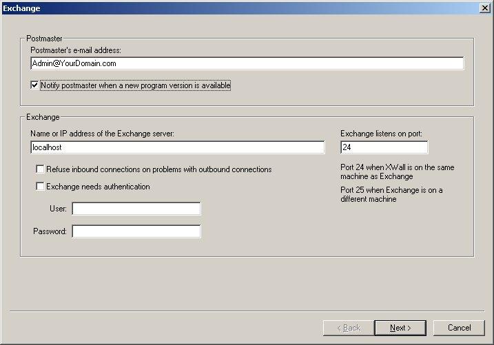 XWall for Microsoft Exchange